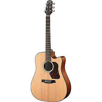 Walden d550ce w/gig bag natura solid spruce top dreadnought acoustic cutaway-electric guitar - open pore satin natural