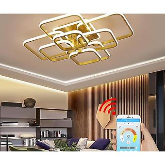 Modern Led Chandelier With Remote Control Acrylic Lights ( Set 1)