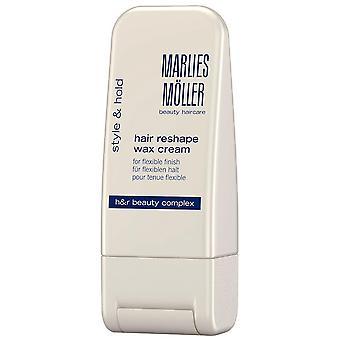 Marlies Moller Style Hold Hair Reshape Wax Cream For Flexible Finish 100 ml