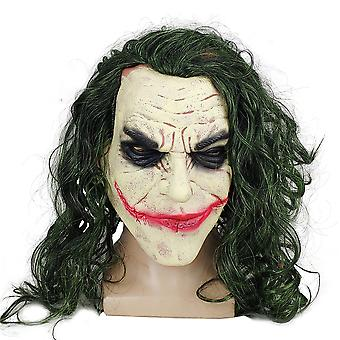 Dark Knight Batman Clown Joker Latex Masque Halloween Perruque Couvre-chefs Cosplay Props