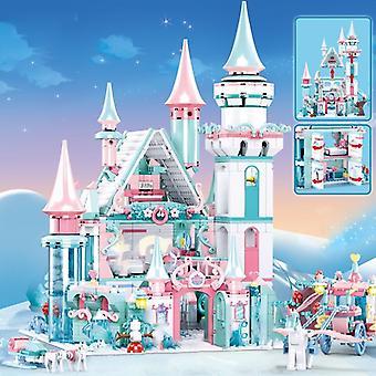 1314pcs City House Princess Castle Sapphire Castle Building Blocks Set