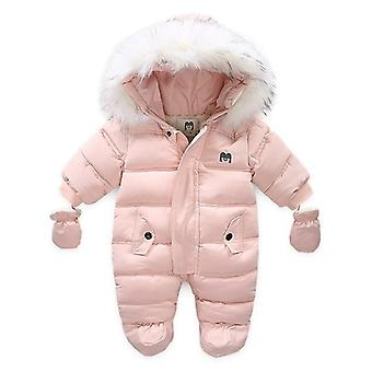 New Winter Baby Clothes, Unisex Cotton Polka Hooded Jacket