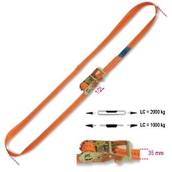 Beta 081860005 8186 35-MT5 Ring Ratchet Tie Down Lc 2000kg Hi-Ten Belt 35mmx5m