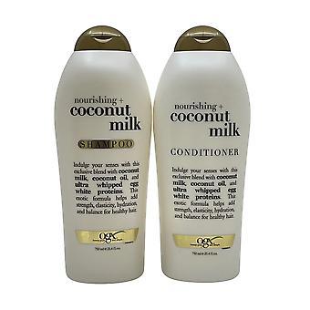 OGX Nourishing + Coconut Milk Shampoo & Conditioner Set 25.4 OZ Each