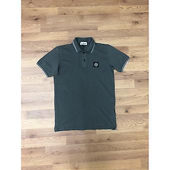 Stone Island Junior Tipped Polo Shirt - Grey