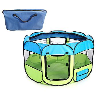 All-Terrain' Ligero fácil plegado de alambre enmarcado Collapseable Travel Pet Playpen - 1Ppylbmd