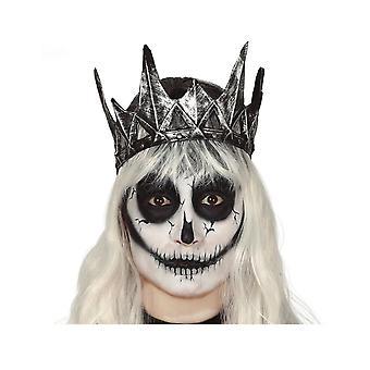 Kwaadaardige koningin kroon volwassen zilveren latex