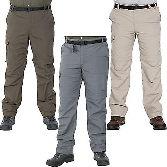 Trespass Mens Rynne Zip Off Outdoor Walking Hiking Bottoms Cargo Trousers Pants