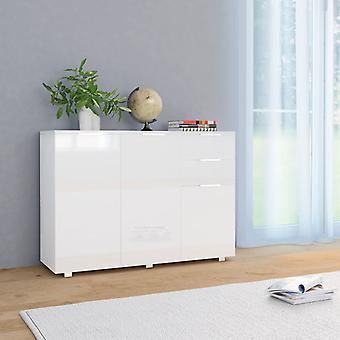 vidaXL Sideboard glossy white 107 x 35 x 76 cm
