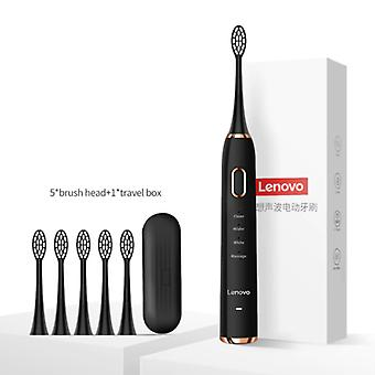 Lenovon sähköhammasharjasarja 2 - Vedenpitävä ääni-USB-latausasema Musta