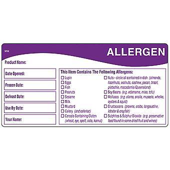 DayMark Removable Allergen & Storage Shelf Life Labels