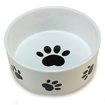 Arquivet Ceramic Trough with Tracks 12Cm (Dogs , Bowls, Feeders & Water Dispensers)