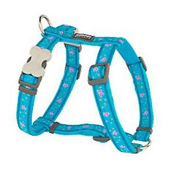 Red Dingo Butterfly Dog Harness Turquoise