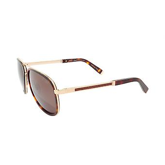 ZILLI Solglasögon Titanacetat Läder Polariserat Frankrike Handgjord ZI 65017 C02
