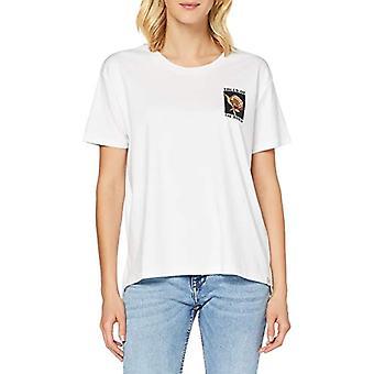 Scotch & Soda Kurzarmliges T-Shirt mit Rundhalsausschnitt in Oversize-Passform, White 0006, L Woman