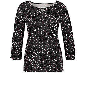 Taifun 571091-19610 T-Shirt, Black Pattern, XS Woman