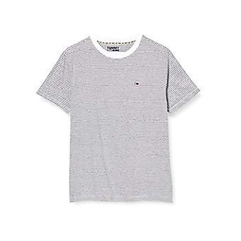 Tommy Jeans Tjm Overdyed Stripe Tee T-shirt, Vit (Vit Ya2), Liten Man