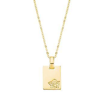 Amor - Flicka halsband med ängel-format hänge, i verkligt guld 375/9 kt