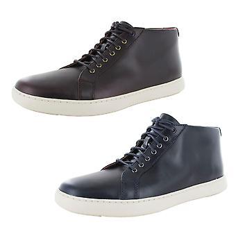Fitflop Mens Andor Cuir Lisse Haut De Baskets Chaussures