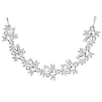 Type 1 bryllup hovedbeklædning blad perle krystal pandebånd, brude hår tilbehør, hovedbeklædning az6734