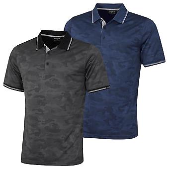 Glenmuir Mens 2021 Brody Moisture Wicking Breathable Performance Golf Polo Shirt