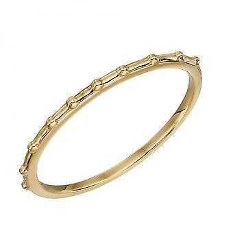 אלמנטים זהב מנוקד קצה הלהקה צהוב זהב טבעת GR589