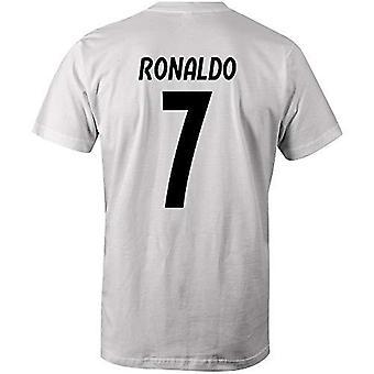 Cristiano ronaldo 7 camiseta estilo club blanco/negro