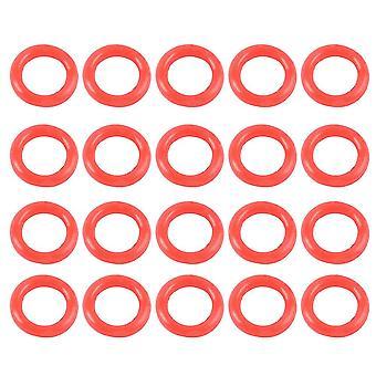 24pcs Arrowhead Rubber Non-slip Ring Prevent Loosening Arrowhead All Arrow Head Archery Equipment Archery Accessories (red)