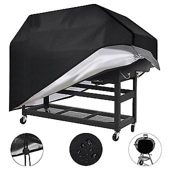 210D BBQ Cover Anti-Dust Waterproof Grill Cover Rain Protective Barbecue Cover(Rectangle