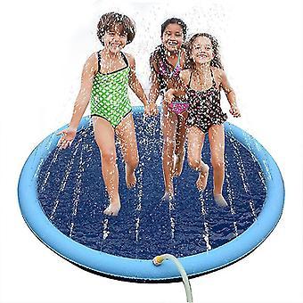 """לשחק קירור לחיות מחמד ממטרה מחצלת שחייה בריכה חיצונית מתנפחת תרסיס מים כרית(150 ס""""מ)"""
