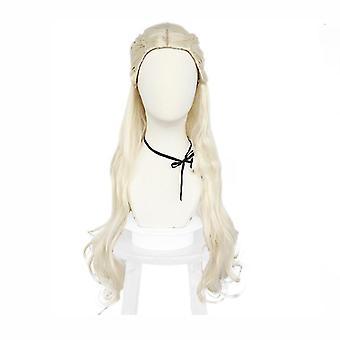 Hra o trůny Paruky Halloween Daenerys Targaryen paruka čepice bílá