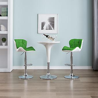 vidaXL Барный стул Зеленая синтетическая кожа