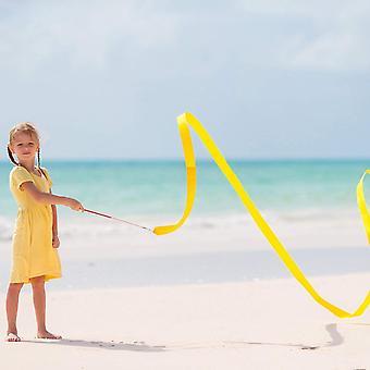Regenbogen Band,Tanzbänder Streamer 10 Stück 2 Meter Rhythmische Gymnastik Ribbon für Kinder