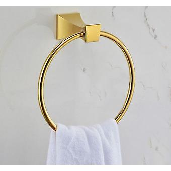 Messing ronde muur gemonteerde badkamer gouden handdoek houder handdoek ringen handdoek rekken | Handdoek ringen