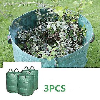 3-pack 72 Gallons Reuseable Garden Storage Ags Lawn Pool Leaf Waste Bag