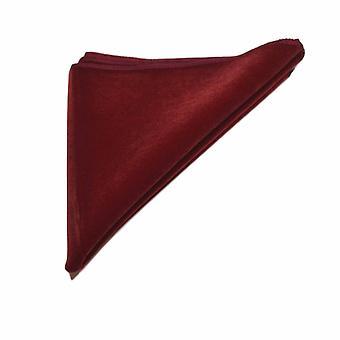 Mørk rød fløjl lomme firkantet