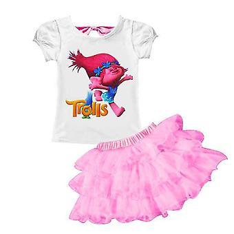 Girl's T-Shirt And Skirt , Moana, Design 1