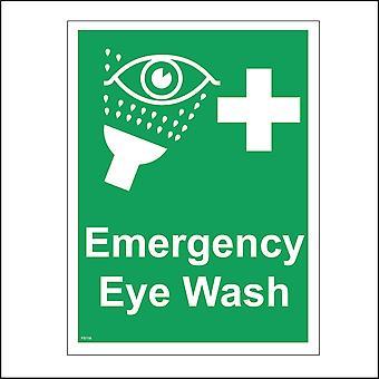 FS116 Emergency Eye Wash Sign with Eye Shower Cross