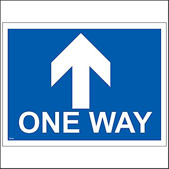 VE026 One Way Ahead Up Sign with Arrow