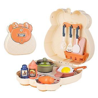 Kinder Simulation Küche Kochen Utensilien Geschirr Kinder Spielen Haus Spielzeug Set