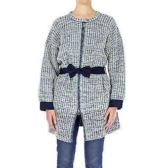 Emporio Armani Women Coat Oversize  Full sleeve Blue