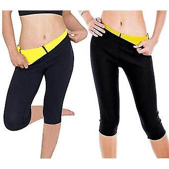 Vrouwen vermagering Fit Thermische korte broek flexibele body shaper sport broek
