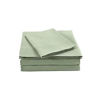 Bamboo Blended Sheet Ultra Soft Bedding Set Queen Sage Green