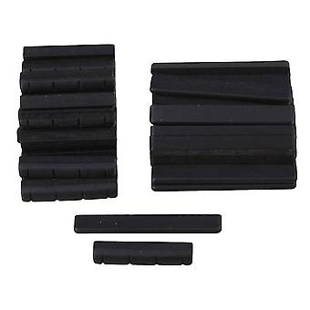 Guitar fittings parts 50pcs ebony bridge saddles and nuts replacement for 4 strings guitar black