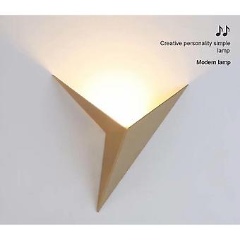 Led Triangle Hotel Staircase Corridor Living Room Bedside Wall Lamp (golden)