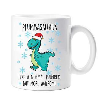 Christmas Plumbasaurus Mug
