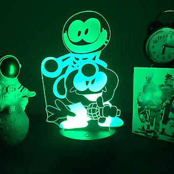 Games Friday Night Funkin Skid And Pump 3d Led Night Light Lamp