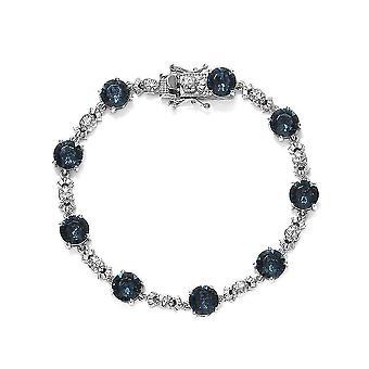 J Francis Tennis Armband Crystal Silver voor vrouw / vriendin / moeder 10.84ct (7.5 inch)