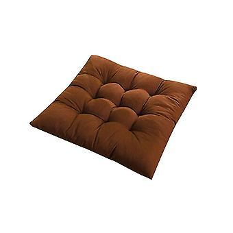 Quadratischer Stuhl weiches Pad Sitzkissen für Home Office Indoor Outdoor Garten (Kaffee)