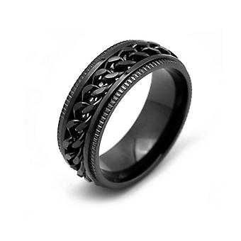 Star And Moon Titanium Steel Rotatable Ring Male Stainless Steel Couple Ring
